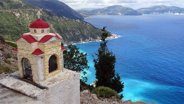 Greece, Sea, Summer, Bay, Turquoise, View, Cephalonia