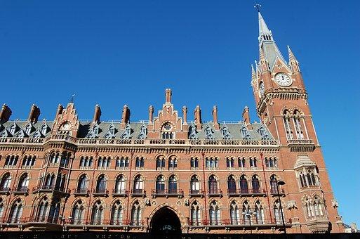 King's Cross, London, Uk, Station, St Pancras, Building