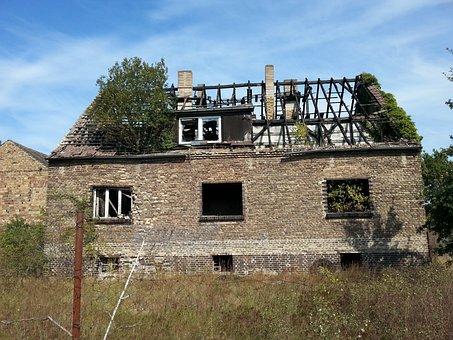 House, Burned, Lapsed, Haunted House, Dilapidated