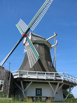 Windmill, Historic Preservation, East Frisia, Mill