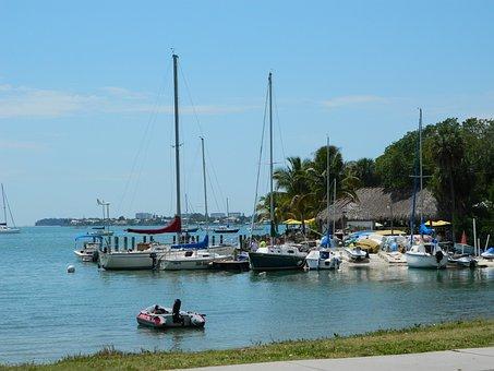 Sarasota, Florida, Marina, Boats, Water, Travel, Usa