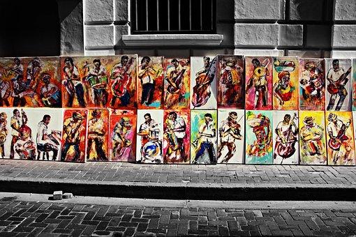 Colombia, Cartagena, Art, City, Facade, Old, Fresh