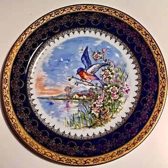 Porcelain, Plate, Hand Painted