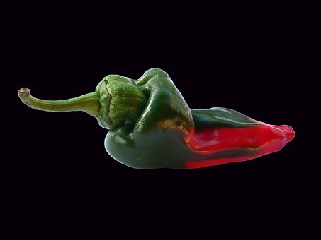 Pepper, Vegetable, Red, Green, Fresh, Food, Healthy