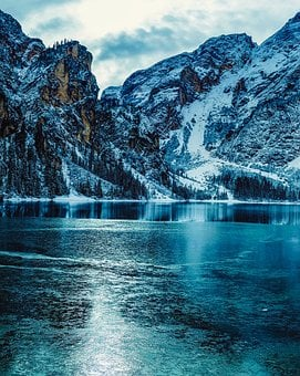 Italy, Landscape, Mountains, Snow, Winter, Ice, Frozen