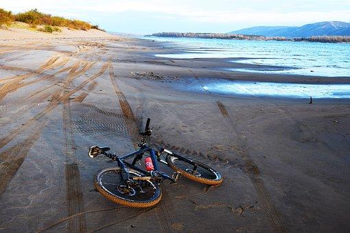 Bike, Beach, Autumn, Wheel, Landscape, Journey, Day
