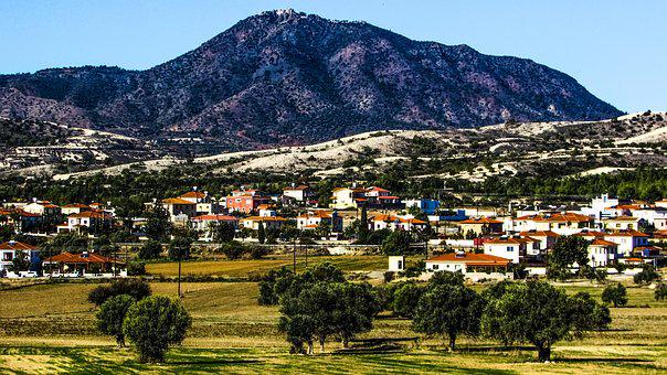 Cyprus, Alethriko, Village, Landscape, Countryside