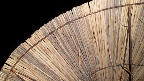Umbrella, Night, Straw