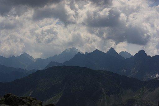 Mountains, Tatry, Panorama From świnica
