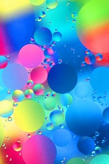 Abstract, Macro, Reflections, Patterns, Neon, Colorful