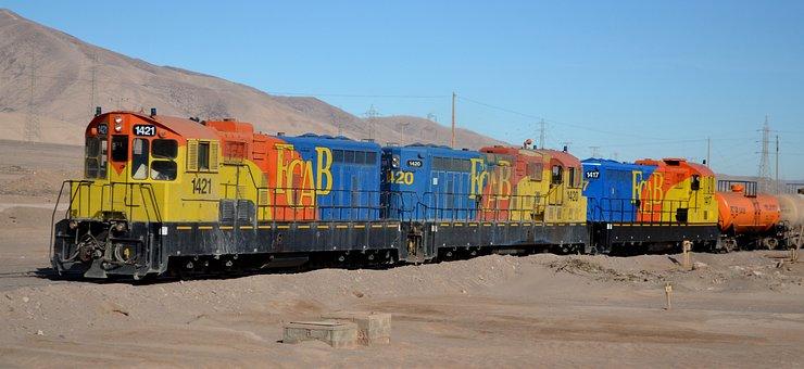 Train, Saltpeter, Antofagasta, Desert, Color, Chile