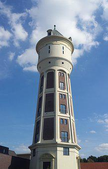 Roosendaal, Water Tower, Tower, Height, High
