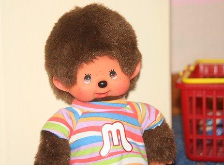 Monchhichi, Play, Soft, äffchen, Cuddly, Children