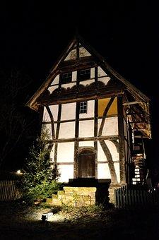 Christmas, Fachwerkhaus, Advent, Contemplative