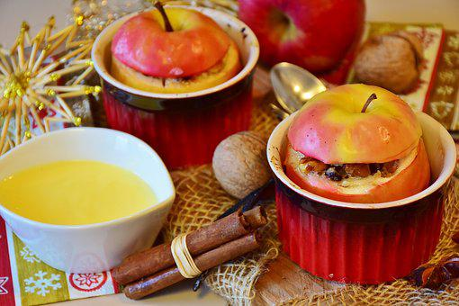 Apple, Baked Apple, Advent, Christmas, Christmas Dinner