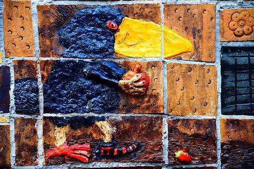 Bird, Raven, Raven Bird, Crow, Black, Ceramic