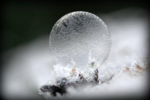Soap Bubble, Mirroring, Colorful, Frost, Hoarfrost