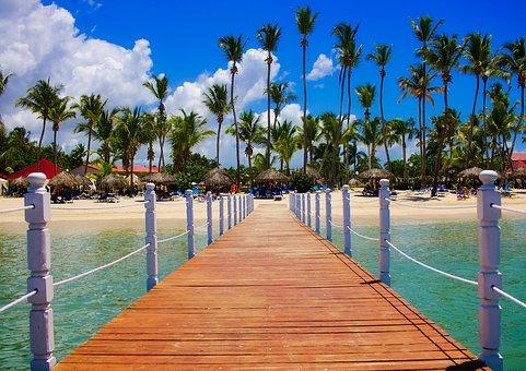 Dominican Republic, Tropics, Palms, Palm Trees, Sea