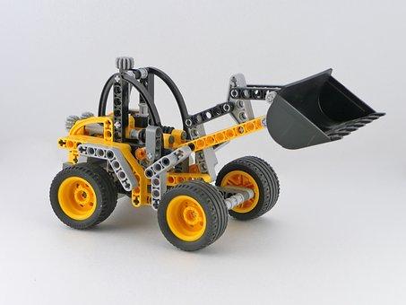 Lego, Constructor, Tractor, Fantasy, Plastic, Toy