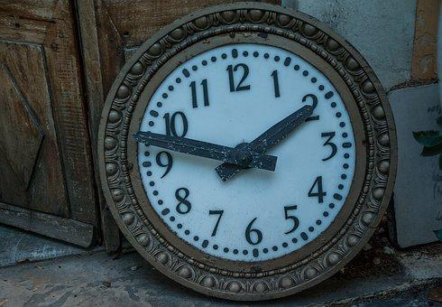 Flea Market, Clock, Pendulum, Dial, Hours, Points