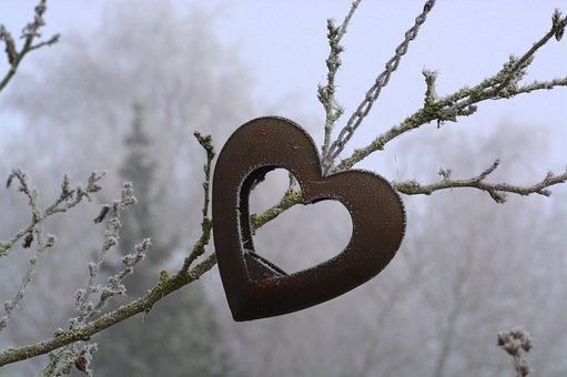 Heart, Cold, Winter, Love, Frozen, Icy, Romance, Deco