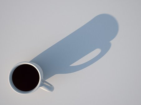 Cup, Shadow, 3d, Rendering, Visualization