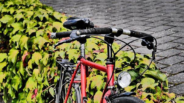Bike, Old, Retro, Metal, Vintage, Retro Look, Red, Ajar