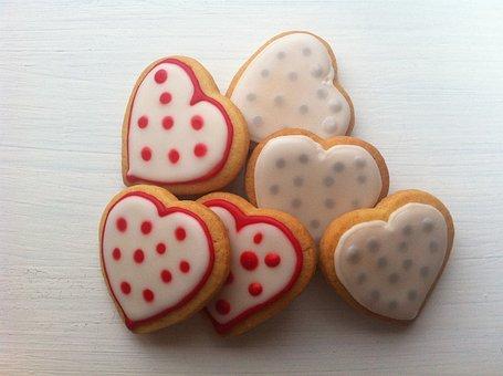 Cookies, Wedding Cookies, Heart