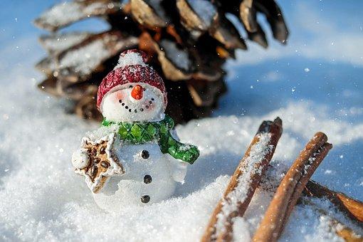 Snowman, Snow, Winter, White, Cold, Wintry, Eismann
