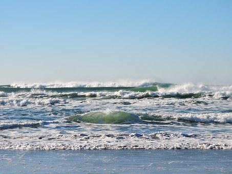 Beach, Waves, Ocean, Pacific, Water, Oregon, Coast, Sea