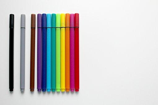 Pens, Colour Pencils, Colorful, Colored Pencils, Draw