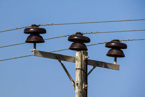 Wire, Telephone, Cable, Pole, Technology, Communication