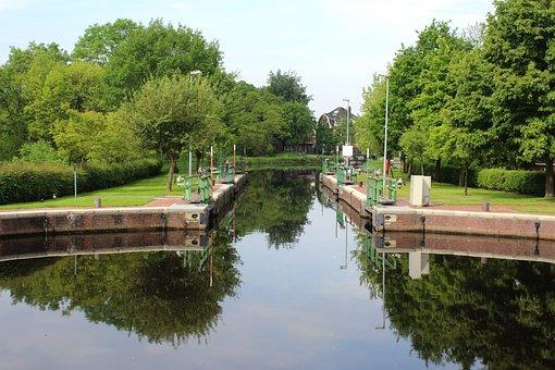 Water Lock, Water, Harbour, Control, Lock, Nature