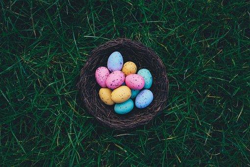 Eggs, Easter Eggs, Egg Hunt, Easter Egg Hunt, Basket