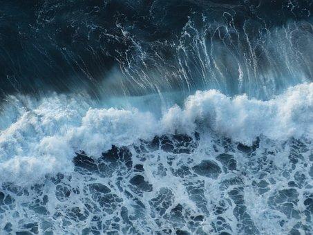 Wave, Sea, Surf, Swell, Foam, Spray