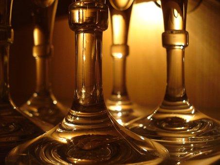 Glasses, Restaurant, Glass, Drink, Elegant, Romantic
