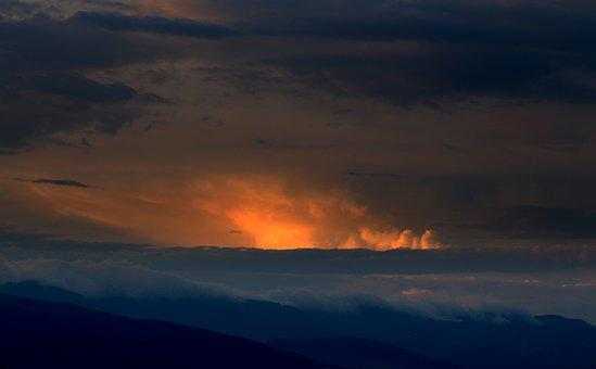 Sunset, Clouds, Sky, Dramatic, Dark, Gloomy, Weather