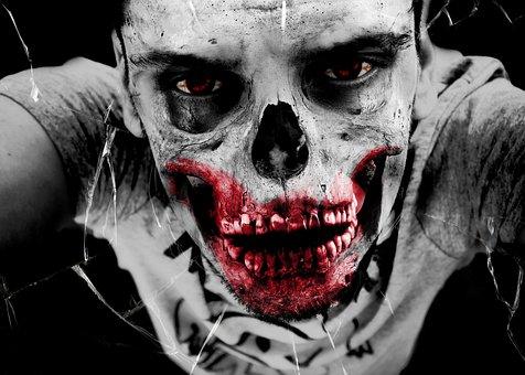 Zombie, Horror, Undead, Monster, Bone, Death, Injured