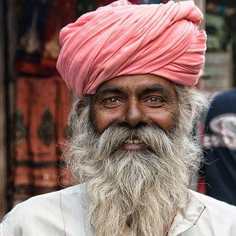 Human, India, Hindu, Portrait, Holy Man, Hinduism, Bart