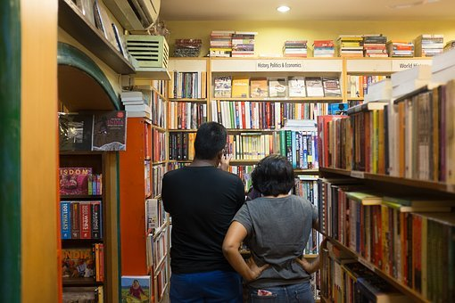 Bookstore, India, Khan Market, Study, Brown Study