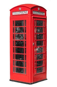 Telephone, Telephone Booth, Booth, Phone, Red, Kiosk