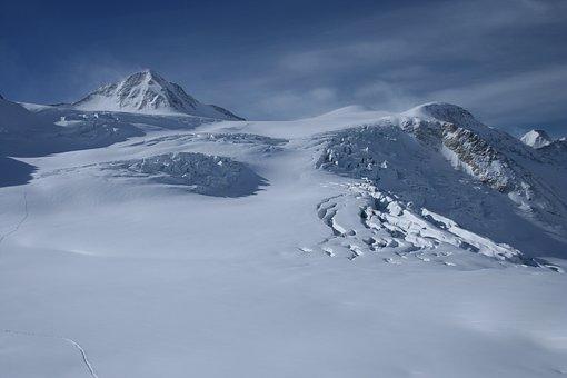 Alps, Glacier, Mountain, Winter, Snow, Landscape