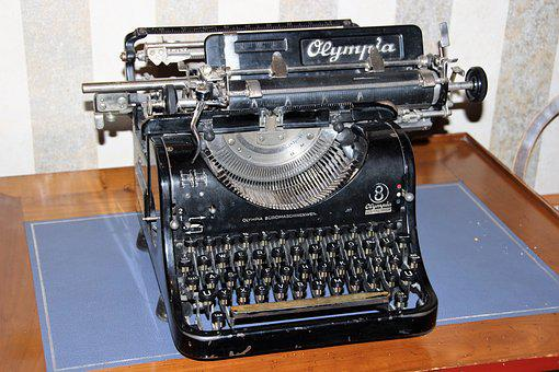 Typewriter, Old, Antique, Deco, Computer, Leave, Tap