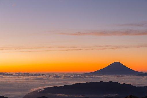 Kitadake, Japan, Mt Fuji, Morning Glow, Sunrise