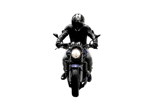 Isolated, Transparent, Motorcycle, Helmet, Jockey, Man