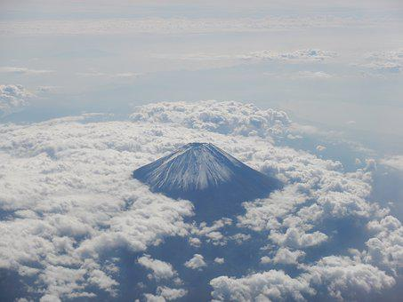 Mt Fuji, Sea Of Clouds, Fuji San, Fuji, Sky, Japan
