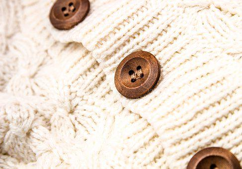 Fabric, Sew, Buttons, Sweater, Textiles, Needlework