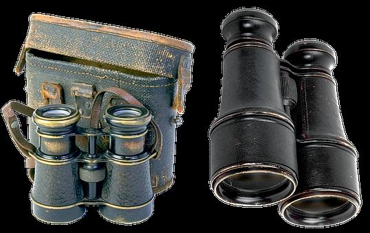 Binoculars, Field, Military, Optics, Appliance, Old