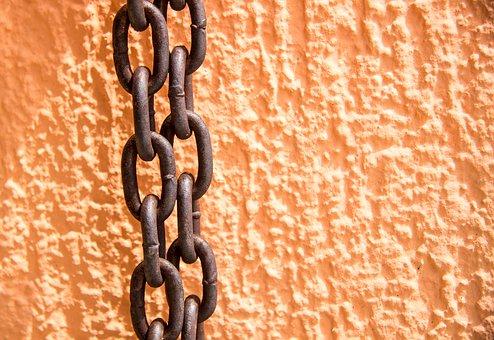 Chain, Rusty Chain, Rust, Orange Background, Background