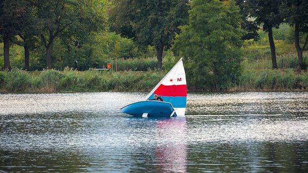 Sail, Capsize, Lake, Sailing Boat, Water, Water Sports